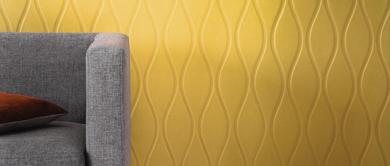 Texdecor revêtement mural Polyform EOS jaune